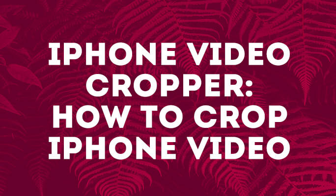 iPhone Video Cropper: How to Crop iPhone Video