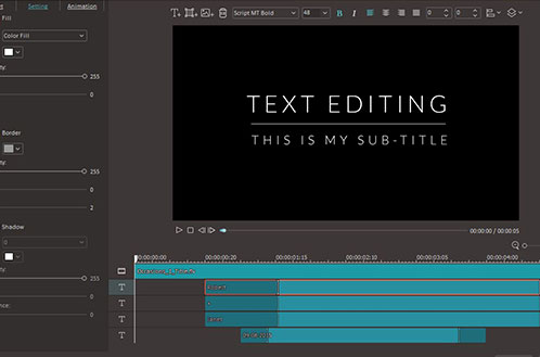 Advanced Text/Title Editor
